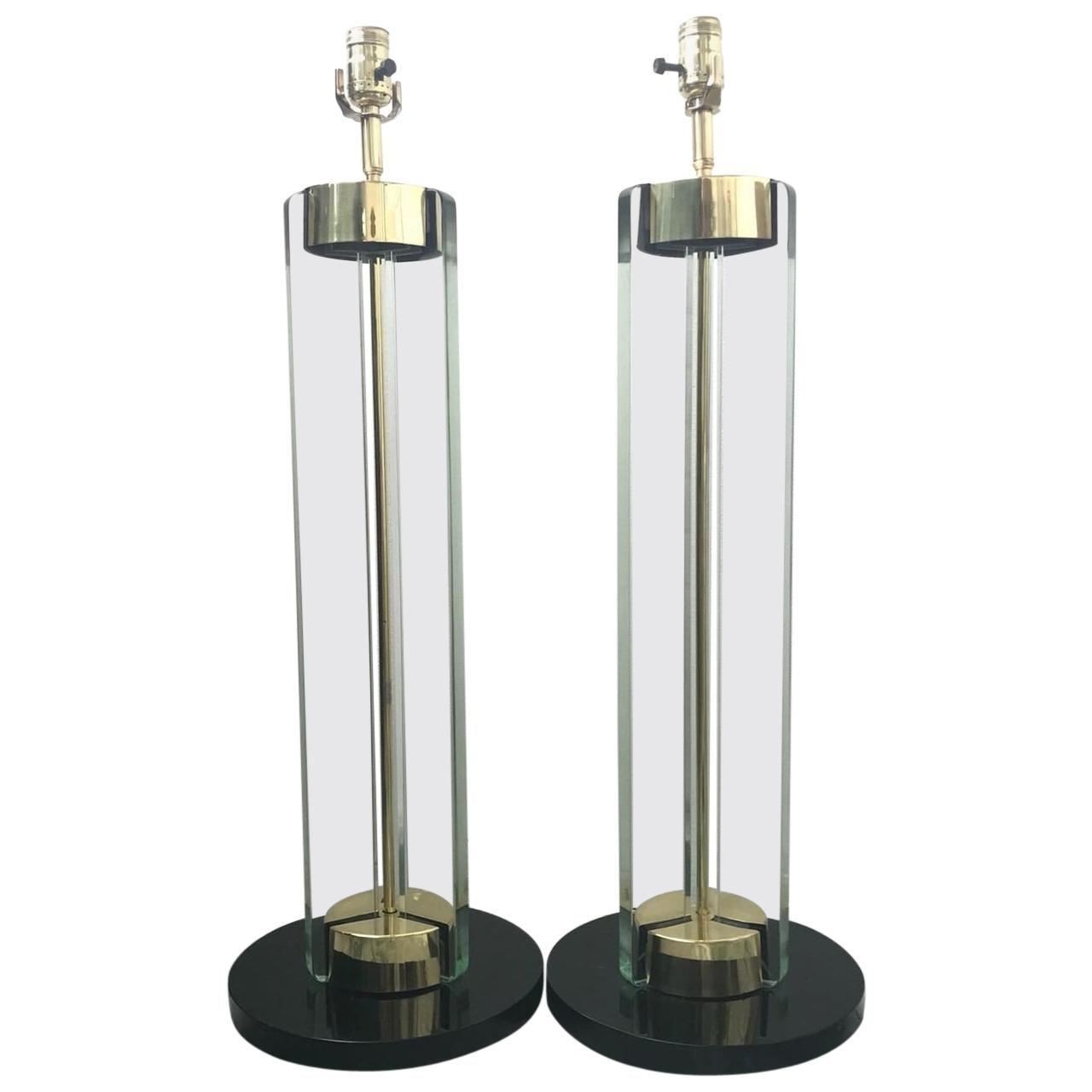 Pair of Fontana Arte Lamps by Max Ingrand
