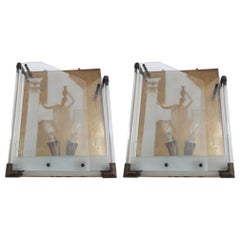 Pair of Fontana Arte Sconces by Gio' Ponti