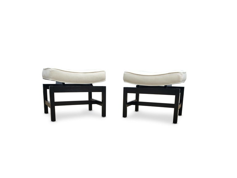 Pair of footstools by Jens Risom.