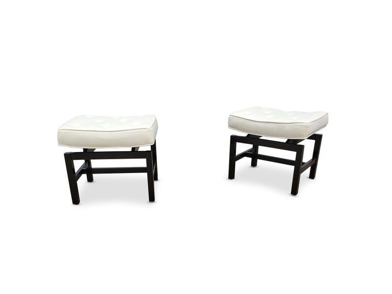 Mid-Century Modern Pair of Footstools by Jens Risom For Sale