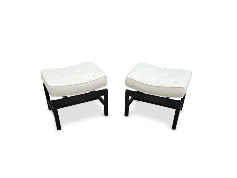 American Pair of Footstools by Jens Risom For Sale