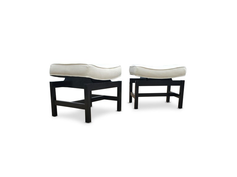 20th Century Pair of Footstools by Jens Risom For Sale