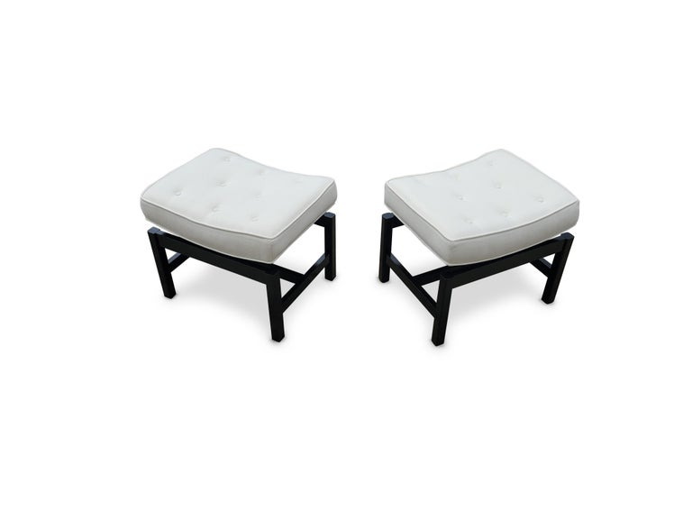 Pair of Footstools by Jens Risom For Sale 1