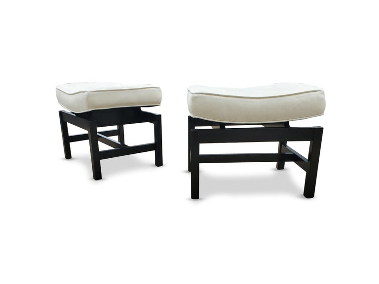 Pair of Footstools by Jens Risom For Sale 2
