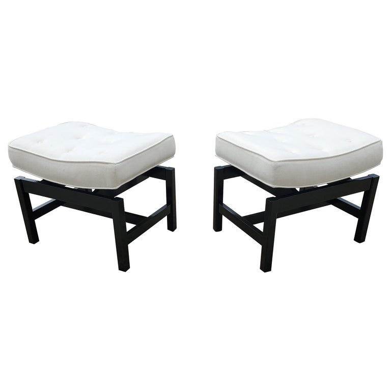 Pair of Footstools by Jens Risom For Sale