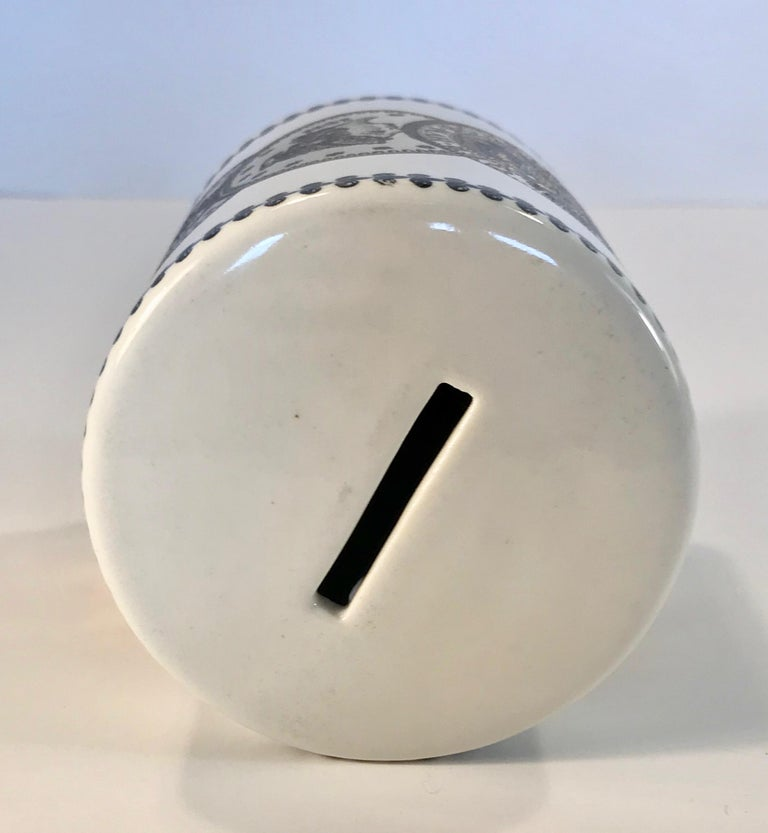 Pair of Fornasetti Piggy Banks with Coins Made for Neiman Marcus For Sale 5
