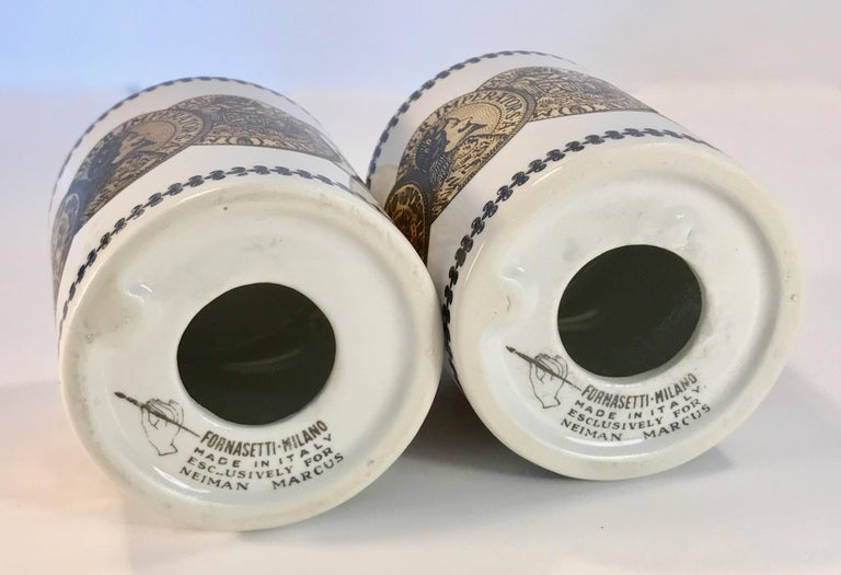 Pair of Fornasetti Piggy Banks with Coins Made for Neiman Marcus For Sale 7