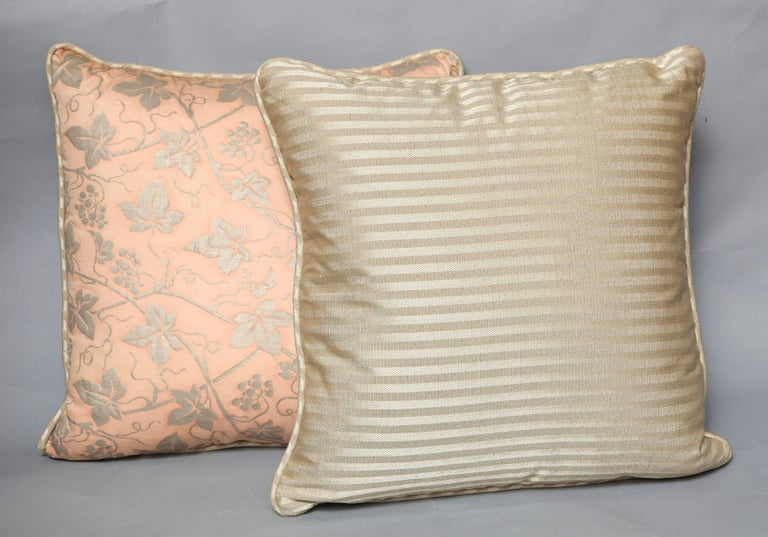 Other Pair of Fortuny Fabric Cushions in the Edera Pattern For Sale
