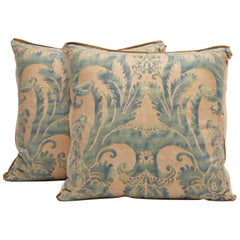 Pair of Fortuny Fabric Cushions in the Glicine Pattern