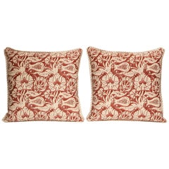 Pair of Fortuny Fabric Cushions in the Malagrana Pattern