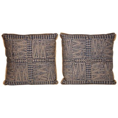 Pair of Fortuny Fabric Cushions in the Melilla Pattern