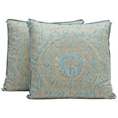 Pair of Fortuny Fabric Cushions in the Orsini Pattern
