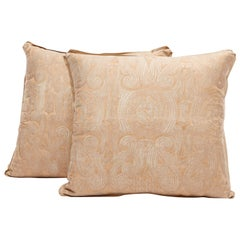 Pair of Fortuny Fabric Cushions in the Peruviano Pattern