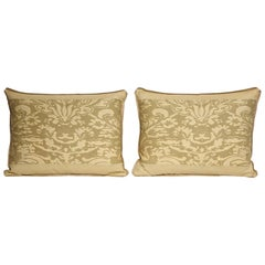 Pair of Fortuny Fabric Lumbar Cushions