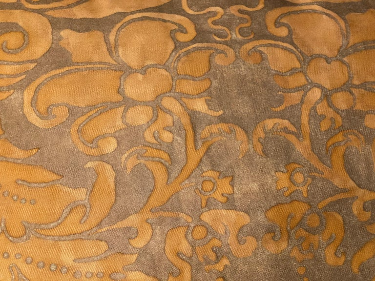 Cotton Pair of Fortuny Pillows For Sale