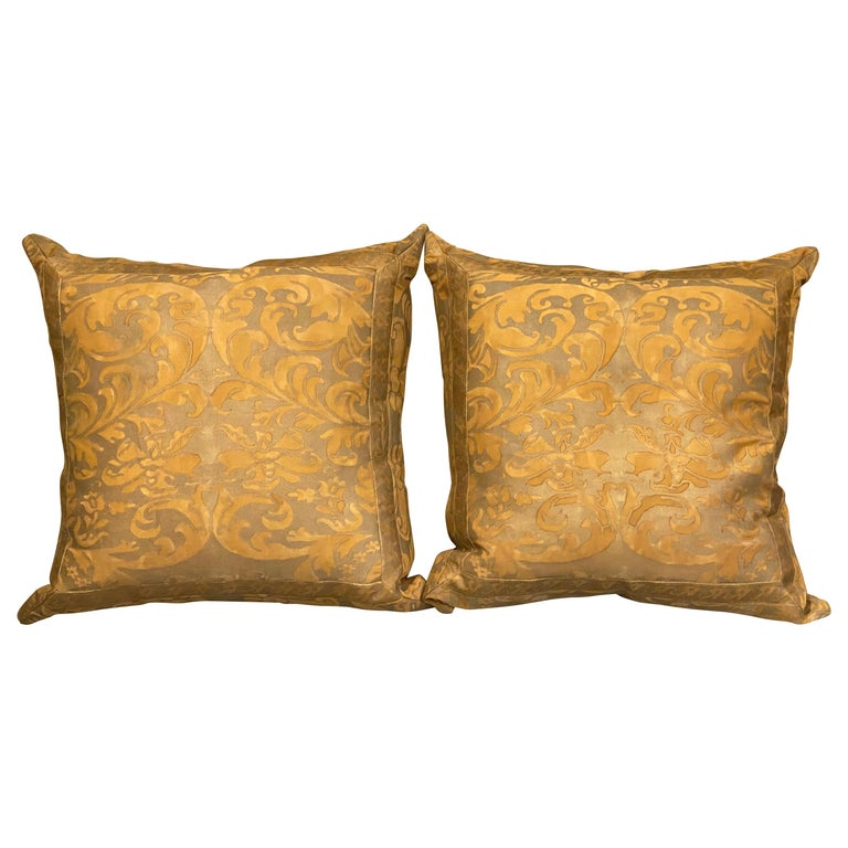 Pair of Fortuny Pillows For Sale