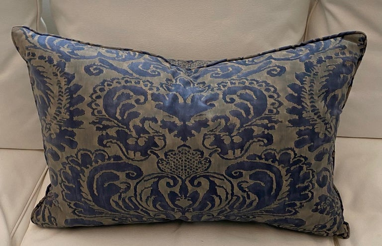 Baroque Pair of Fortuny Rectangular Cushions in the