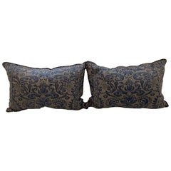 "Pair of Fortuny Rectangular Cushions in the ""CORONE"" Pattern"