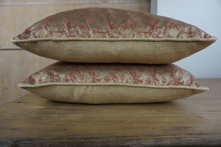 Baroque Pair of Fortuny Textile Accent Pillows For Sale