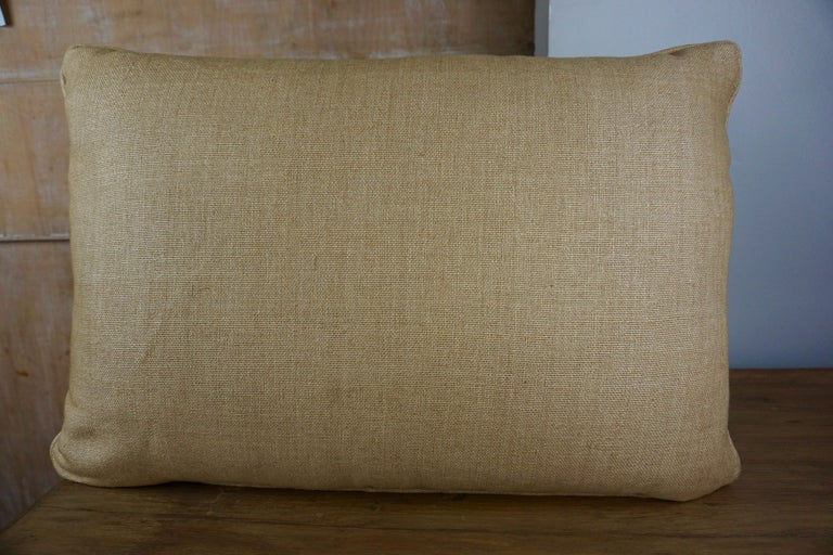 Italian Pair of Fortuny Textile Accent Pillows For Sale