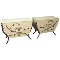 Pair of Fossilized Stone Commodes