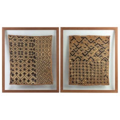 Pair of Framed African Fabrics, Early 20th Century