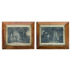 Pair of Framed English Engravings of Sailor Boys by Edward Orme, circa 1790-1800