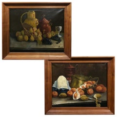 Pair of Framed Oil Paintings on Canvas by A. Ruurds Dated 1898