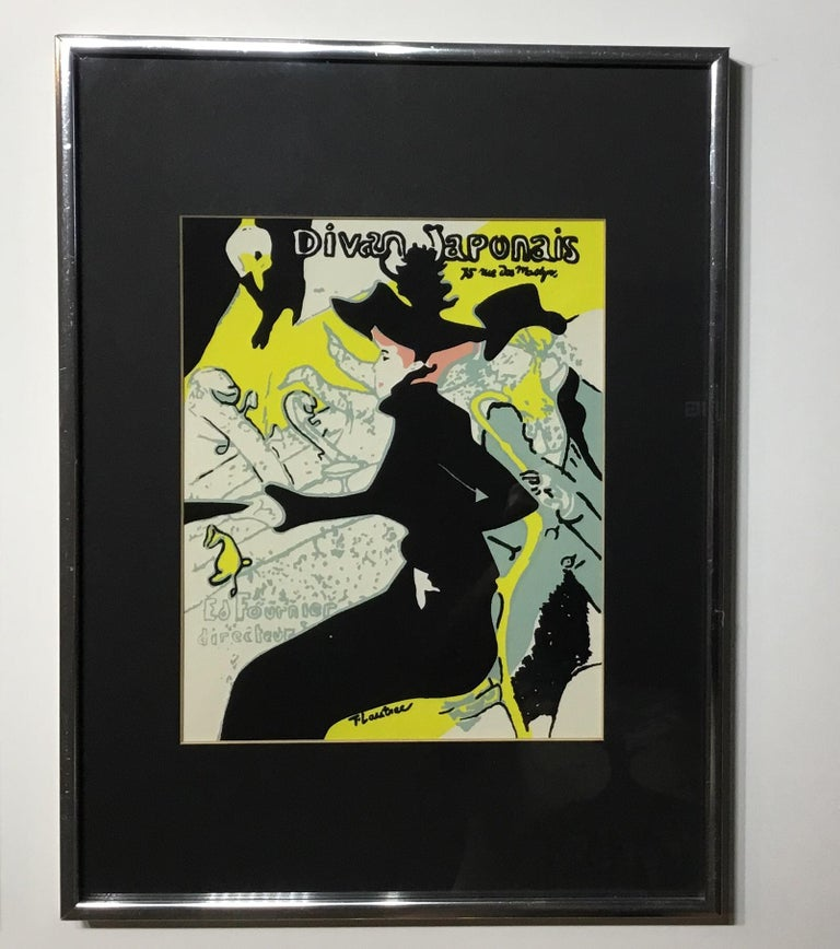 Pair of Framed Toulouse Lautrec Original Print In Good Condition For Sale In Delray Beach, FL