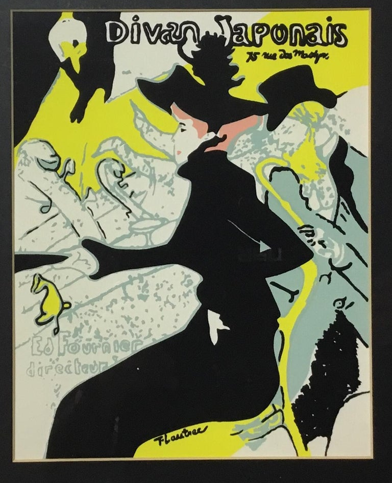 Late 20th Century Pair of Framed Toulouse Lautrec Original Print For Sale