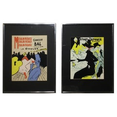 Pair of Framed Toulouse Lautrec Original Print