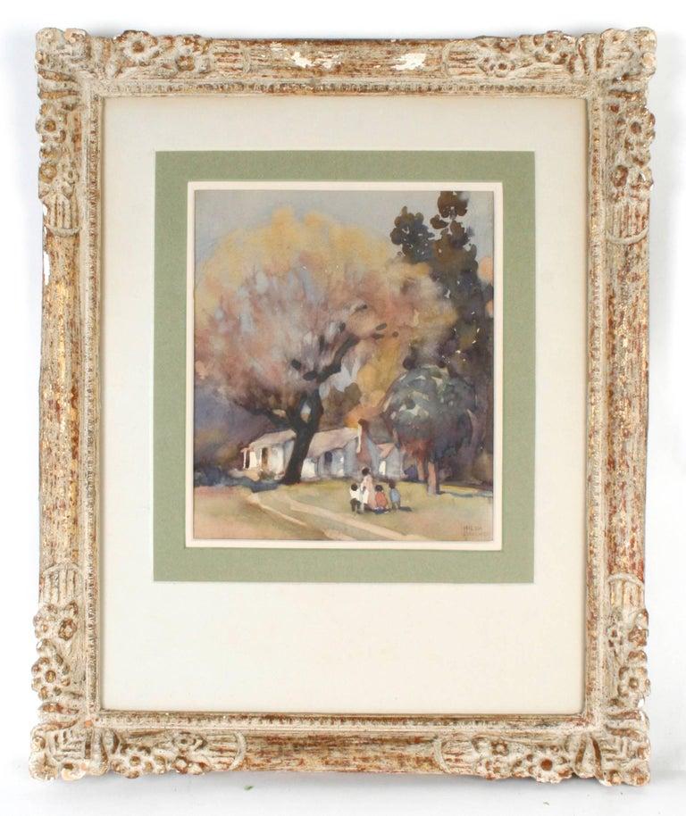 Pair of watercolors by Hilda Belcher (American/Georgia 1881-1963).