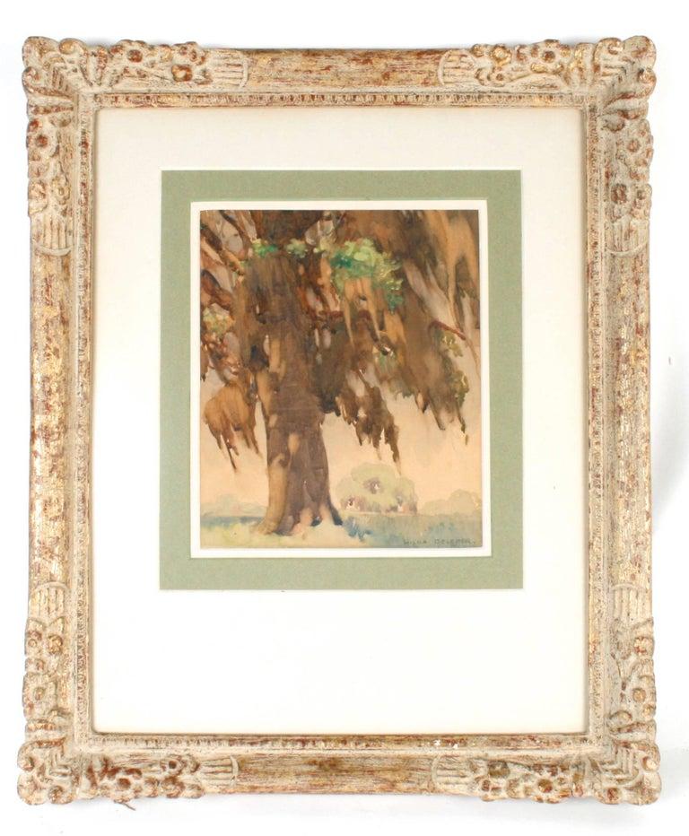 Painted Pair of Framed Watercolors by Hilda Belcher, 'American/Georgia, 1881-1963' For Sale