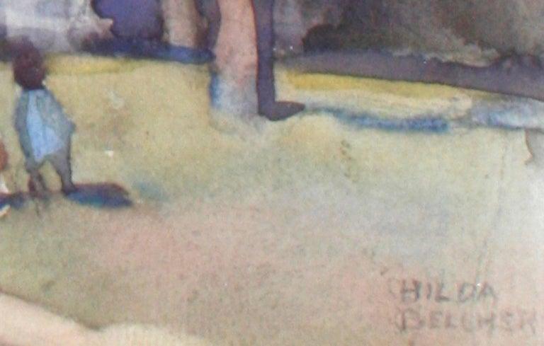 Paper Pair of Framed Watercolors by Hilda Belcher, 'American/Georgia, 1881-1963' For Sale