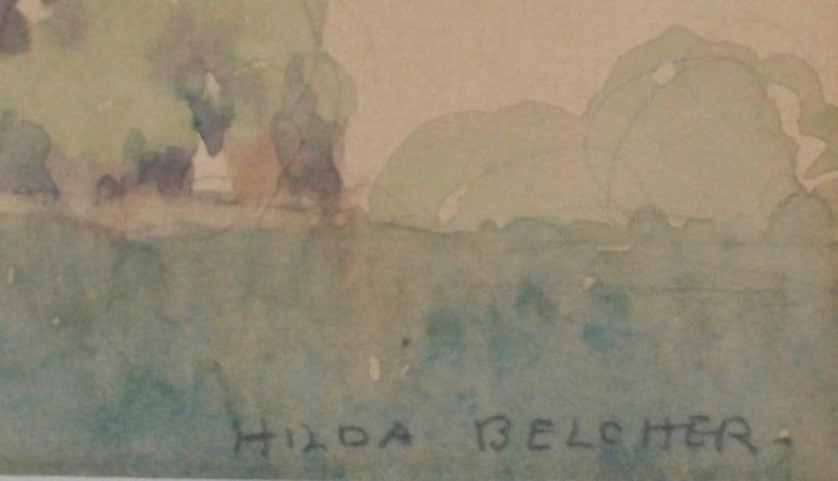 Pair of Framed Watercolors by Hilda Belcher, 'American/Georgia, 1881-1963' For Sale 1