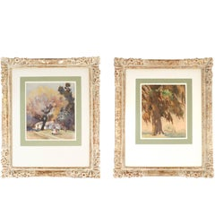 Pair of Framed Watercolors by Hilda Belcher, 'American/Georgia, 1881-1963'