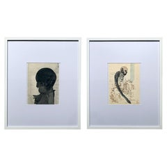 Pair of Framed Work on Paper by Jose Luis Cuevas