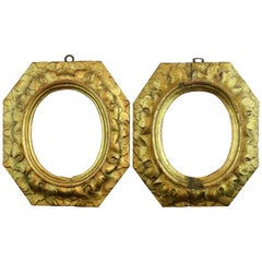 Pair of Frames, Gilded Wood, 17th Century
