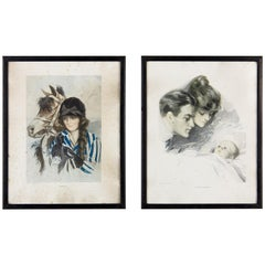 Pair of Frames with Nash Magazine Prints, England, Early 1900s