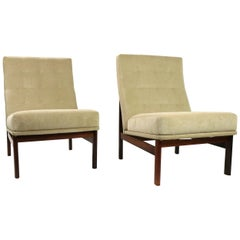Pair of France and Son Lounge Chairs attributed Ole Gjerlov-Knudsen  Torben Lind