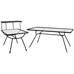 Pair of Frank and Sons Tables in the Style of George Nelson for Arbuck
