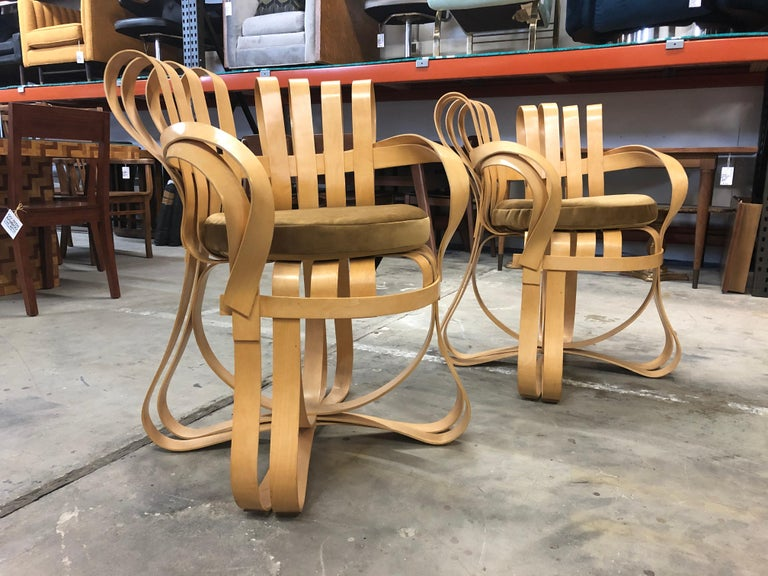 Pair of Frank Gehry for Knoll Cross Check Chairs 3