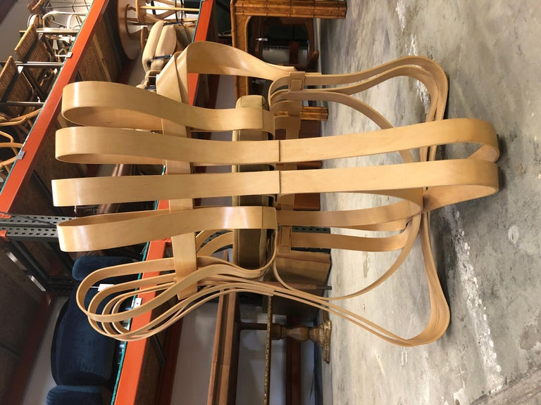 Pair of Frank Gehry for Knoll Cross Check Chairs 5