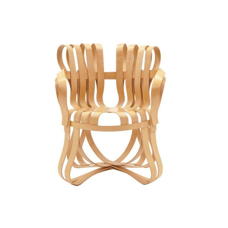 Mid-Century Modern Pair of Frank Gehry for Knoll Cross Check Chairs