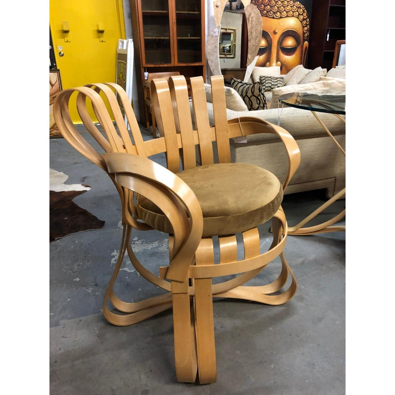 Pair of Frank Gehry for Knoll Cross Check Chairs In Good Condition In Chattanooga, TN