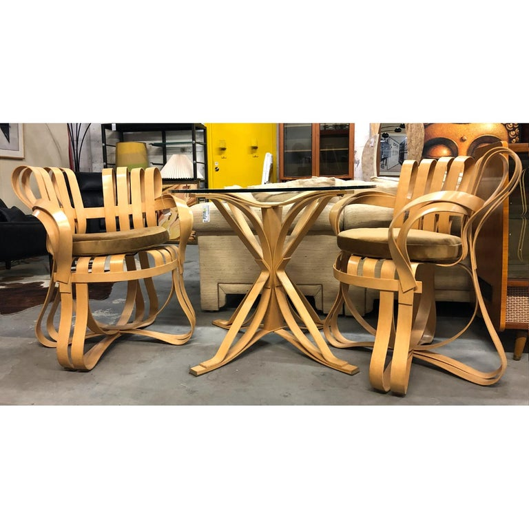 Late 20th Century Pair of Frank Gehry for Knoll Cross Check Chairs