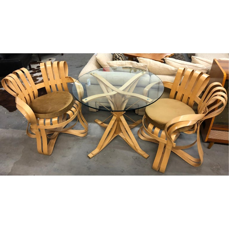 Maple Pair of Frank Gehry for Knoll Cross Check Chairs