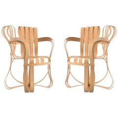 Pair of Frank Gehry for Knoll Cross Check Chairs