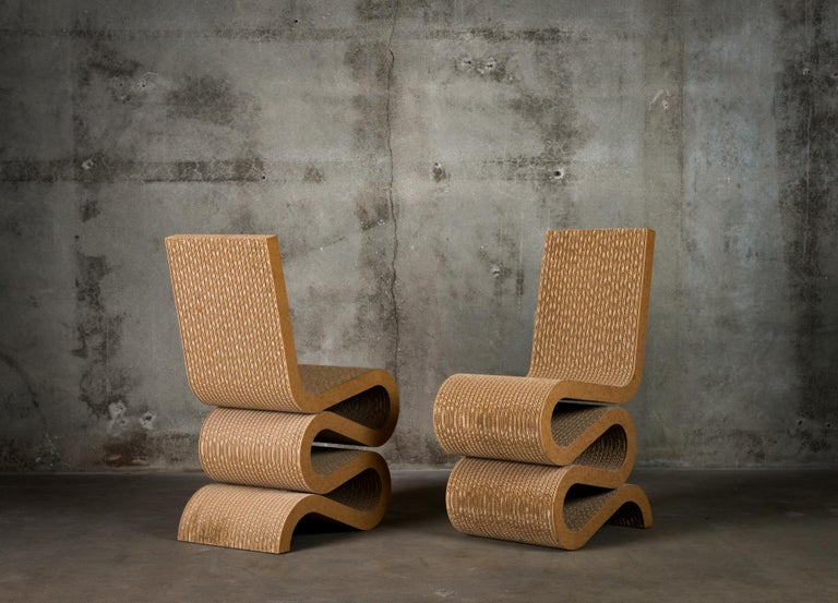 German Pair of Frank Gehry 'Wiggle' Chairs For Sale