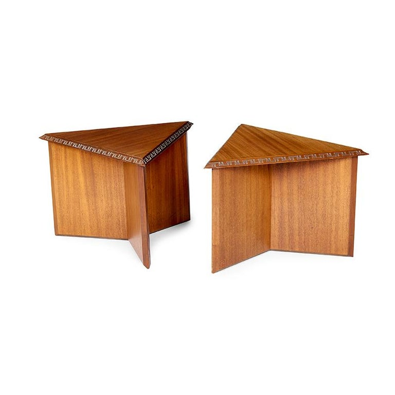 Pair of Frank Lloyd Wright Low Tables For Sale 1